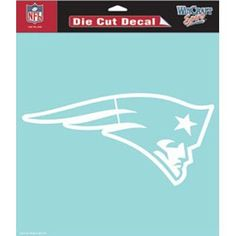 """New England Patriots Die-Cut Decal - 8""""x8"""" White by Caseys. Save 81 Off!. $5.79. Licensed Die Cut decals are made of 3m optically clear cast vinyl, 3 year outdoor rating, permanent adhesive, image cut to the outside dimension of logo, fine detail is screened within the logo. Supplied with a clear liner, clear transfer tape, and application instructions. Measure 8in x 8in.. Fremont Die Auto Emblems. Licensed Die Cut decals are made of 3m optically clear cast vinyl, 3 year ou..."""