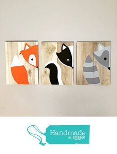 10x14 Set of 3 Woodland Animal Nursery Signs Nursery Decor Baby Shower Gift or Baby Decor from Amber's Wooden Boutique http://www.amazon.com/dp/B016SA9VZU/ref=hnd_sw_r_pi_dp_E90Awb1Z71A2S #handmadeatamazon