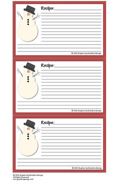 Free Printable Recipe Cards Lots To Choose From  Sewing And