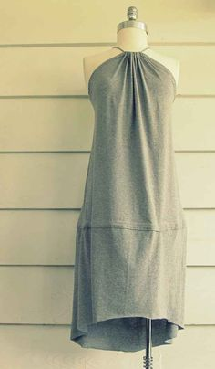 Fishtail Sundress | 27 Awesomely Cheap Ways To Transform A T-Shirt