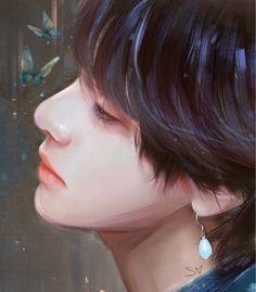 Cre: the owner/as logo Taehyung Fanart, Bts Taehyung, K Pop, Digital Art Beginner, Lisa Blackpink Wallpaper, Bts Drawings, Bts Chibi, Kpop Fanart, Daegu