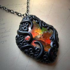 Tentacled Ammolite Necklace #2 - Buy Cthulhu Mythos gothic jewelry ...