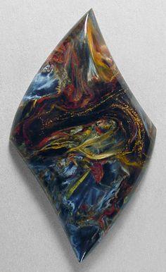 AFRICAN PIETERSITE designer cab Silverhawk's designer gemstones - gorgeous colors in this!