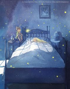 """Kim Min Ji, """"Peter Pan"""" illustration.  I love Peter and Wendy.  So much."""