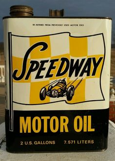 Speedway Motor Oil 2 gallon can
