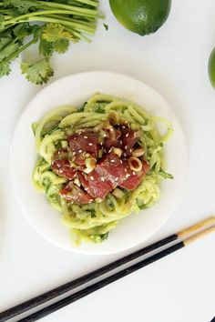 6. Ahi Tuna Poke Bowl With Avocado and Cucumber Noodles #greatist http://greatist.com/eat/poke-bowl-recipes