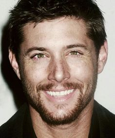 <3 #JensenAckles ...there aren't enough words to describe how much I love this photo. The frackles, the hair, the eyes, the smile, the crinkles...he's perfect,.....P. E. R. F. E. C. T.