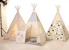 Build teepee tent yourself and make a private children's play area, #build #children #private #teepee #yourself