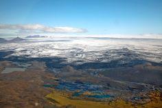 Bárðarbunga: Gletscher bedecken Teile des Vulkans.