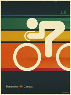 Signalnoise bicycle poster referencing 1972 Munich Olympic Games.