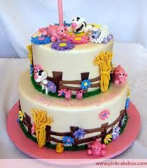 Cute little farm cake for a girl