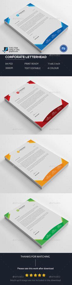 Corporate Letterhead Vol-01 Template, Letterhead template and - corporate letterhead template