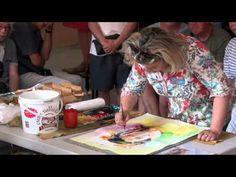 Olivia QUINTIN demo portrait aquarelle Biennale d'Aquarelle de Brioude 2013