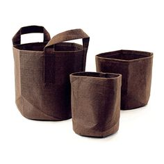 Root Pouch, Boxer Brown Fabric Pot, Longest Lifespan - Plant Containers