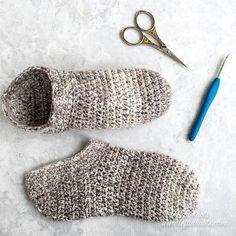 Cotton Slipper Socks Crochet Pattern Printable PDF