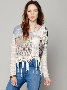 Free People Patched Pullover, $228.00