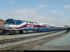 RailPictures.Net Photo: Having completed the morning Westbound run, ACE 3105 and its consist push towards the storage track at Santa Clara. San Jose, California by Tim Corbett