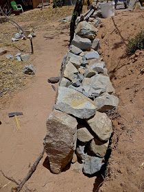 In the last post I did for this series on tips for building a dry stack stone wall I showed how I go about building a dry stack wa. Dry Stack Stone, Stacked Stone Walls, Dry Stone, Stone Retaining Wall, Gabion Wall, Landscaping Retaining Walls, Landscaping With Rocks, Building A Stone Wall, Rock Wall Gardens