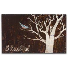 Dolan Geiman: Medium Art Print on Wood, Bluebird BOX PRINT reproduction
