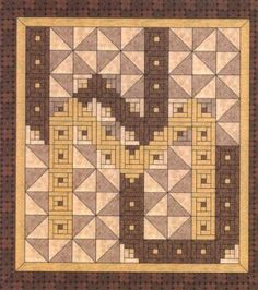 Virginia Tech Quilt Pattern, Alphabet Soup by AD Designs at Creative Quilt Kits Quiltmaker ...