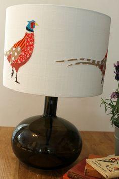 Appliqued Pheasant Lampshade