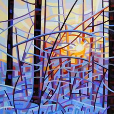 Abstract Landscape Sunrise via Mandy Budan