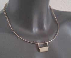 Vintage Halsschmuck - Halskette Halsreif Silber 925er 80er Jahre SK1039 - ein Designerstück von Atelier-Regina bei DaWanda