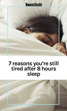 Looking for sleep tips? If you're tired all the time it may not be your sleep that's the problem. See these common reasons that you're tired after 8 hours sleep. Stop wondering how not to be so tired with these explanations. Reasons For Tiredness, Reasons For Fatigue, Extreme Tiredness, Why Am I Tired, I Feel Tired, Very Tired, When You Sleep, How To Get Sleep, Sleep Well