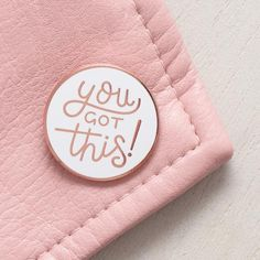 You Got This Pin - Motivational Pin - Feminist Pin - Hard Enamel Pin - Enamel Pin Set - Flair - Brooch - Lapel Pin - Pins - Alphabet Bags Cute Sticker, Pins Badge, Hard Enamel Pin, Pin Enamel, Jacket Pins, No Bad Days, Cool Pins, Pin And Patches, E Design