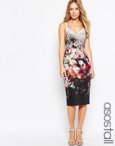 ASOS TALL Floral Hitchcock Dress