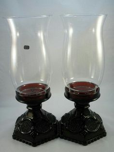 Avon Cape Cod Ruby Red Candle Holders