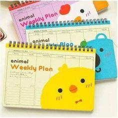 'MissYou – Animal Print Weekly Desk Planner'