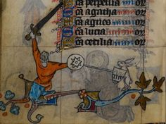 Detail from medieval manuscript, British Library Stowe MS 17 'The Maastricht Hours', f175v