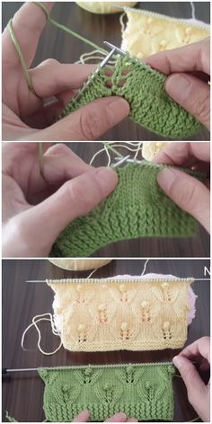 Bud Leaf Knitting Pattern - Pin This Leaf Knitting Pattern, Baby Knitting Patterns, Lace Knitting, Knitting Stitches, Knitting Designs, Knitting Socks, Stitch Patterns, Knitted Hats, Knit Crochet