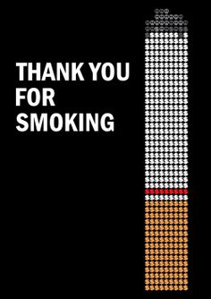 Minimal Movie Poster  Thank You for Smoking (2005)