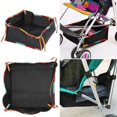 2 Colors Baby Stroller Storage Bag Multifunctional Universal Car Hanging Polyester Net Storage Bag Baby Stroller Accessorie