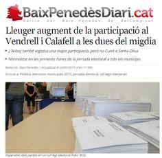 WEBSEGUR.com: AUMENTO DE LA PARTICIPACIÓN EN CALAFELL