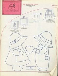 Free Stuff: sunbonnet sue and sam quilt Applique pattern - Listia.com ...