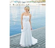 Exquisite Empire Sweetheart Floor-length Chapel Pick-ups Beach Wedding Dresses