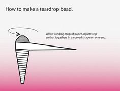 Paper bead: How to make a teardrop. See illustration