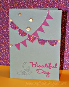 Beautiful Day ~ Artfully Sent Card using CTMH Happy Birds stamp set