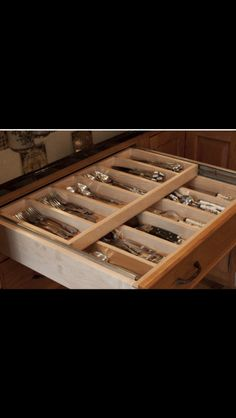 Organize flatware in one drawer... Double the space