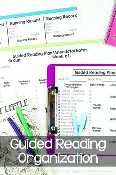 Simplify your Guided Reading organization, documentation, observations and conferences too! Every teacher needs quick and easy Guided Reading conference and meeting notes! These notes are a MUST HAVE because of the EASY checklists at the bottom! Reading Strategies, Reading Activities, Reading Comprehension, Cloze Reading, Teaching Reading, Teaching Resources, Guided Reading Organization, Classroom Organization, Upper Elementary