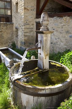 Communal Laundry Fountain