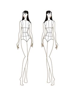 Croqui Fashion Model Templates | posted by camerin no comments email this blogthis share to twitter ...