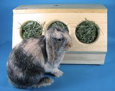SaveABunny's Three Hole Hay Saver Box. $65,00, via Etsy.