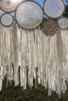 Trendy Ideas For Bedroom Vintage Diy Dream Catchers Diy Y Manualidades, White Bohemian, Bohemian Style, Bedroom Vintage, Vintage Diy, Boho Decor, Wind Chimes, Diy And Crafts, Etsy