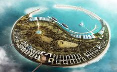 Nanhai Pearl Artificial Island in Haikou Bay by Foster + Partners