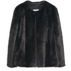 MANGO Faux Fur Coat (620 NOK) ❤ liked on Polyvore featuring outerwear, coats, faux fur coats, imitation fur coats, mango coat, long sleeve coat and fake fur coats