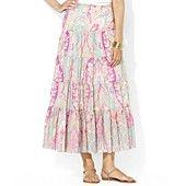 Lauren Ralph Lauren Skirt, Paisley-Print Tiered Maxi
